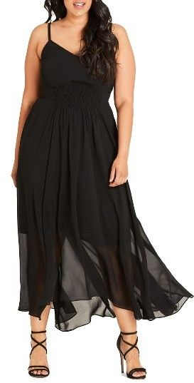 Plus Size Women's City Chic Smocked Waist Maxi Dress
