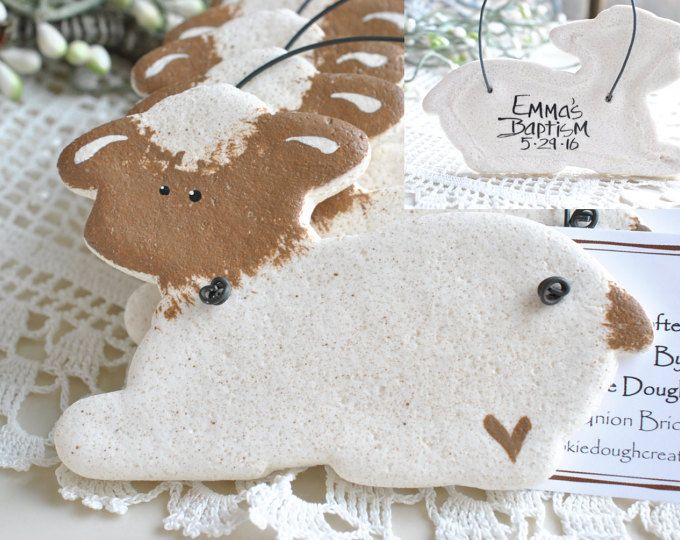 Salt Dough Lamb favors for Baptism / Etsy :: Your place to buy and sell all things handmade