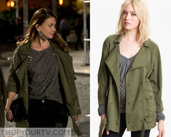 Younger Season 1 Episode 5 Liza 39 S Green Military Jacket Tv Show Fashion Style And Clothes