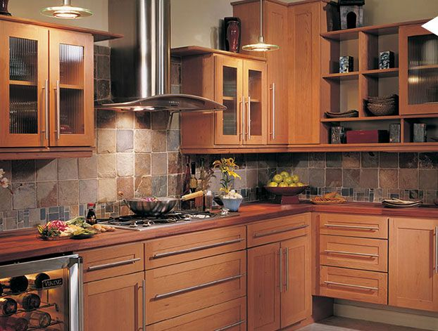 17 best images about home and garden on pinterest Cherry Kitchen Cabinets What Color to Paint Walls Cherry Kitchen Cabinets with Paint