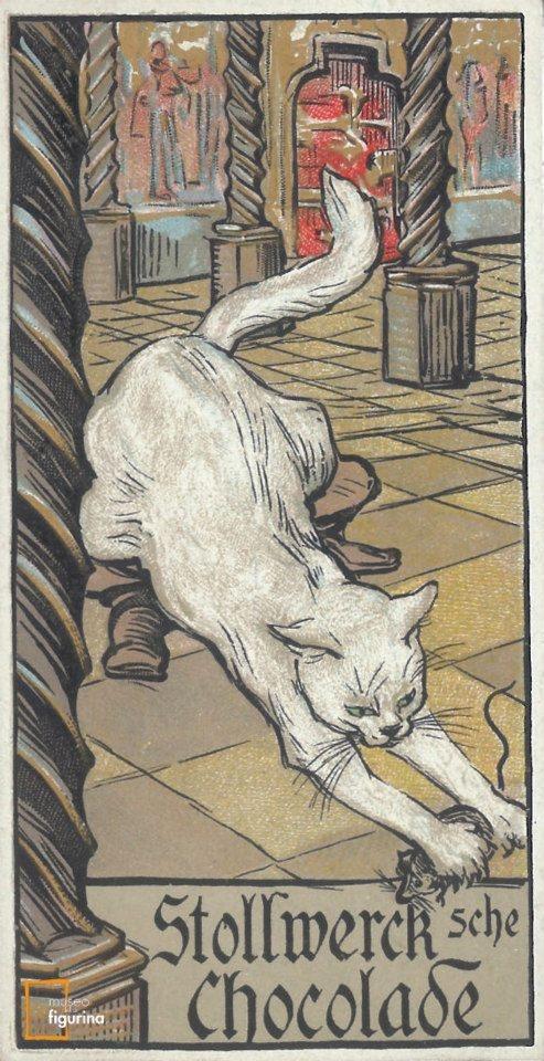 Disegno di Walther Püttner. Figurina del 1902 per la pubblicità del cioccolato Stollwerck - Museo della Figurina - Modena