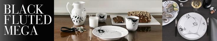 Royal Copenhagen: Black Fluted Mega.  Uniquely black – an exclusive innovation…