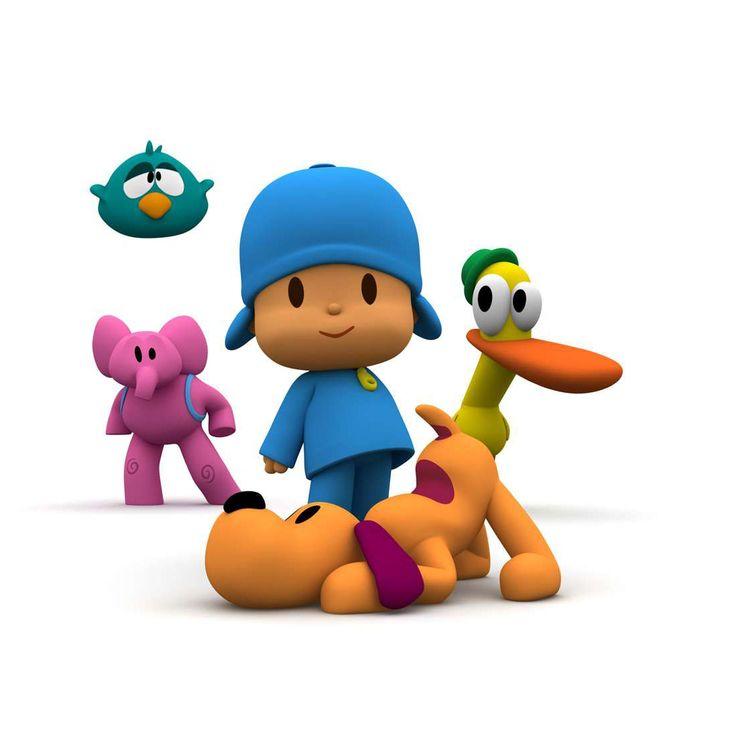 Pocoyo and his friends: Pajaroto (bird), Eli (elephant), Pato (duck) and Lula (dog). (Spain)