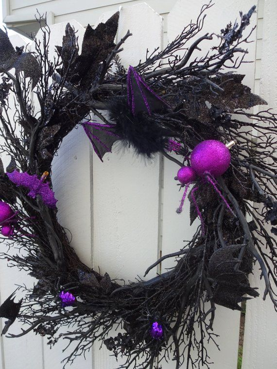 Halloween Wreath Going Baty Wreath Spooky Wreath Spider Wreath SALE