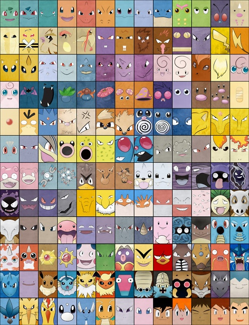 Best Pokemon Poster! (minus the faces of ash, misty, Brock, Gary and prof oak. But I know they are there to make the poster even.)