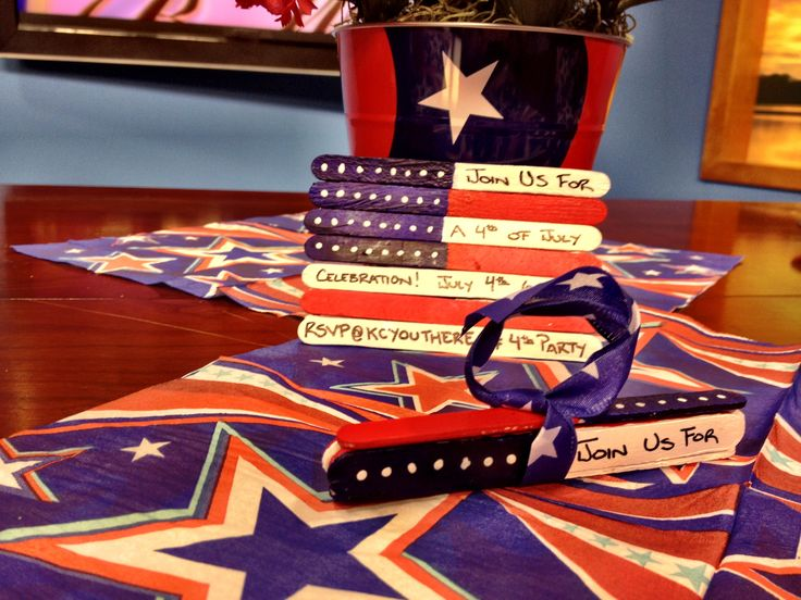 #DIY 4th of July invitation