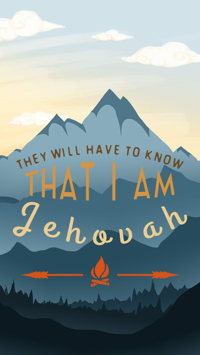 """""""I AM JEHOVAH"""" IPHONE5 WALLPAPER"""