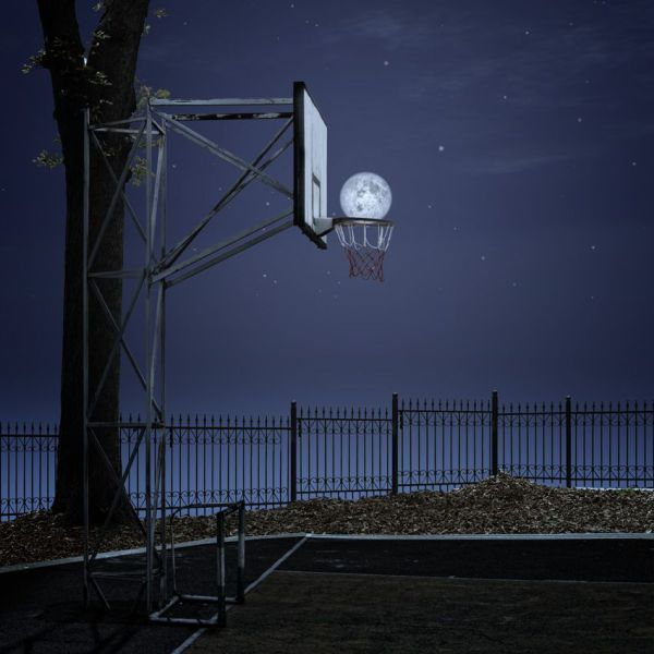 Moon BBall: Picture, Photos, Force Perspective, Moon, Moon, Slammed Dunks, Slamdunk, Baskets, Photography