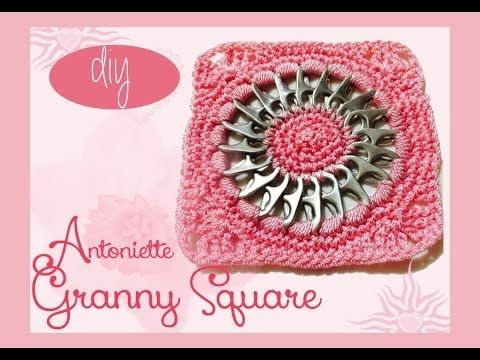DIY: #Aluminum Pop Tabs #GrannySquare Antoniette - YouTube