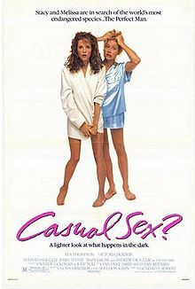 """""""Caroline"""" in a quandry: In this 80s movie, the spectre of AIDS spooks friends Lea Thompson (now in """"Separated at Birth"""") and Victoria Jackson (now in with the Tea Party). They hope to find sex with the right man - their idea of """"right"""" now includes HIV-free."""