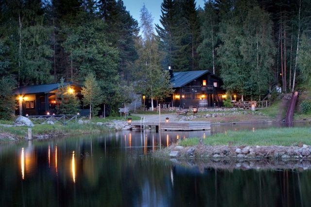 Finnish sauna world at Hotel & Spa Resort Järvisydän. Rantasalmi, Finland.