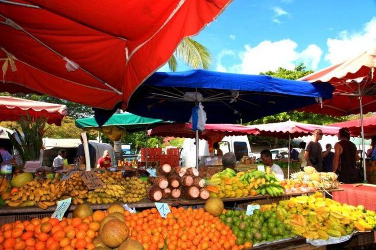 Île de Réunion : le marché de Saint-Paul