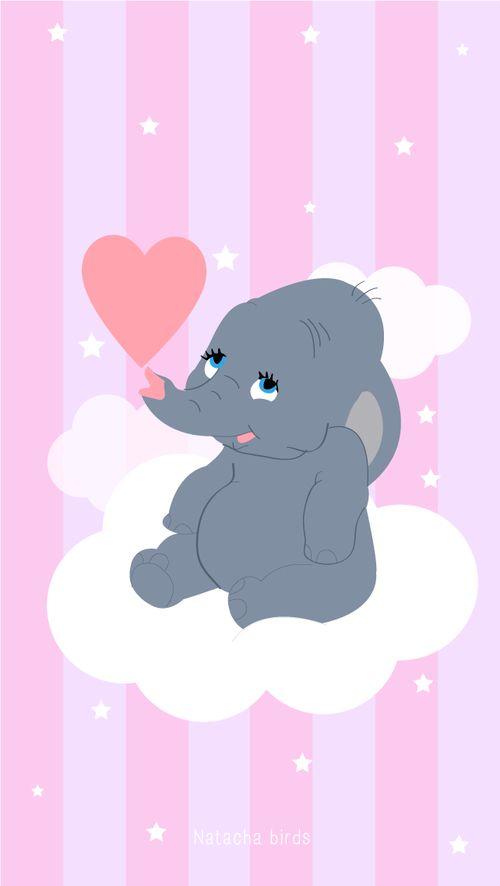 Fonds d'écran pour iPhone & ordinateur : Dumbo. - Natacha Birds