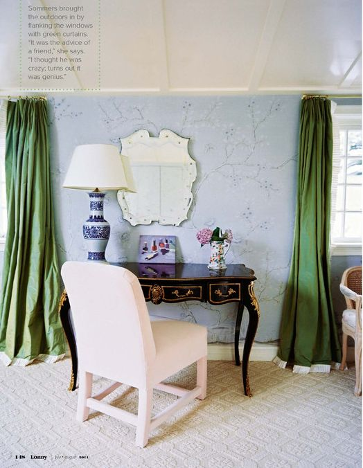 Kelly Green Curtains With Light Gray Grasscloth Walls: 91 Best My Thing For Drapes Images On Pinterest
