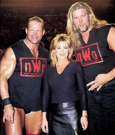 Lex Luger, Miss Elizabeth, and Kevin Nash