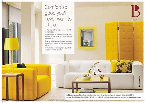 Furniture Magazine Ads By Hajra Siddiqui, Via Behance