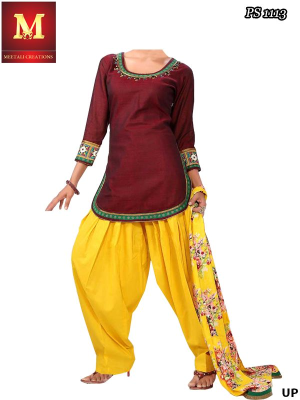 Gorgeous Punjabi suit #patiala #Patiala #Suit, simple yet beautiful Visit Our Store:www.meetalicreations.in Picture of Gorgeous Desinger Patiala Suit Online Shopping www.meetalicreations.in It's simple and cute......i really like it #punjabi suit