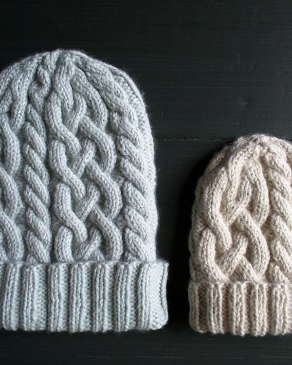 Great pattern for baby and adult cable hats which easy to understand pattern and instructions on how to cable.