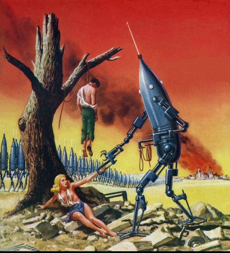 10 Cool Sci Fi Retro Artworks: But, But ... I, For One, Welcome Our Robot Overlords