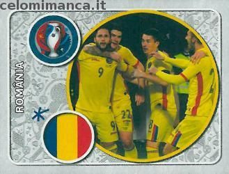 UEFA EURO 2016™ Official Sticker Album: Fronte Figurina n. 11 România Team