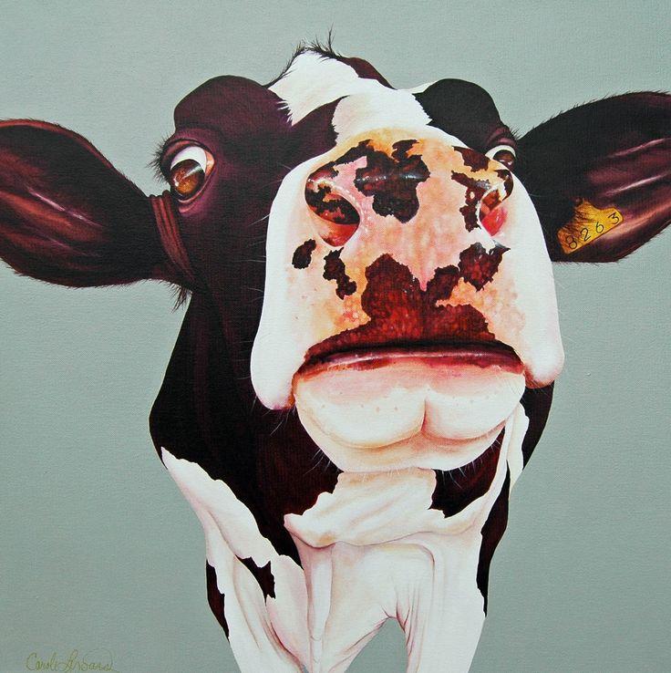 Cow Margot 24''x 24'' acrylic on canvas. $650.