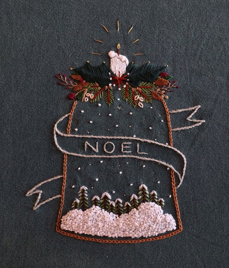 25+ Best Ideas About Christmas Embroidery On Pinterest
