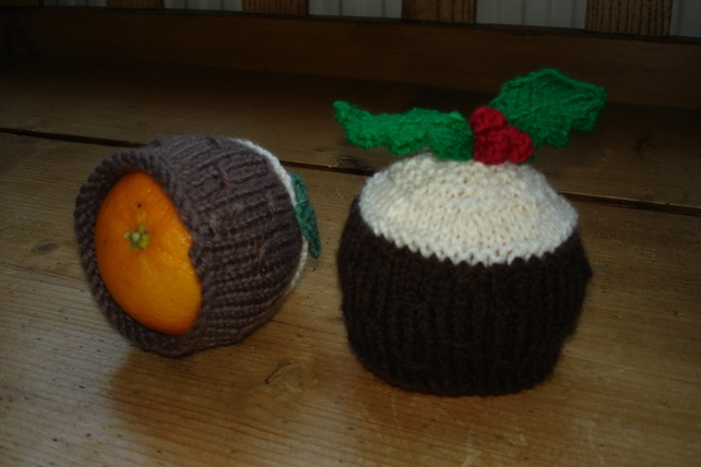 Free Knitting Pattern Xmas Pudding : Knitted Christmas Pudding Chocolate Orange Holder ?5.00 ...