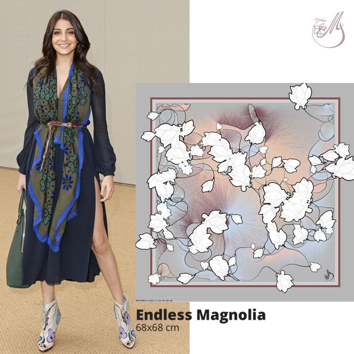 Yet another cool way to wear a #scarf! How are you styling yours? #mscarves #magnoliascarves #magnoliaatelier #silk #digitalprint #dewdrops #loveitbeforeyouseeit #loveitbeforeyouwearit