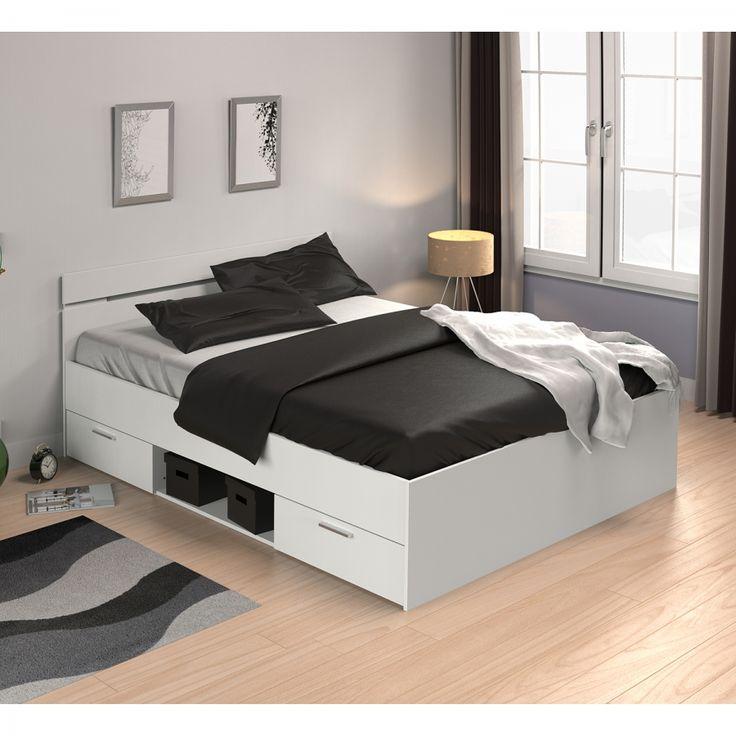 Doppelbett Michigan - 140 x 200cm - Weiß