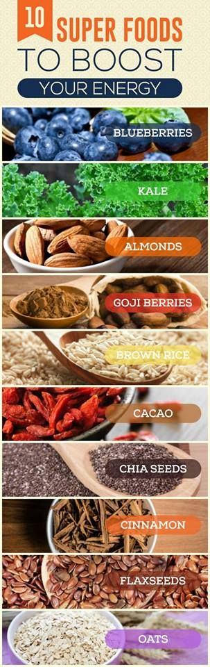 #superfoods to boost your #energy naturally! #heathlylife #health