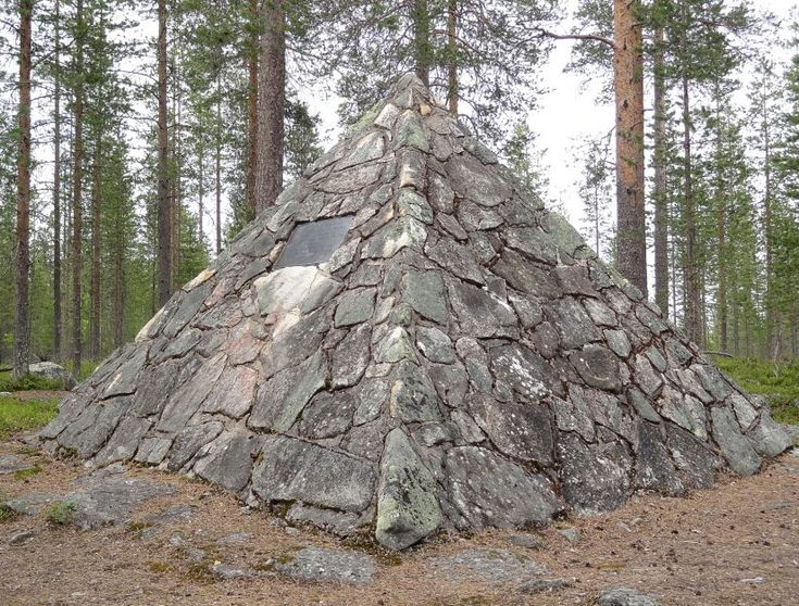 Maupertuis Memorial at the top of the Mont Kittis (Kittisvaara) in Pello in Lapland