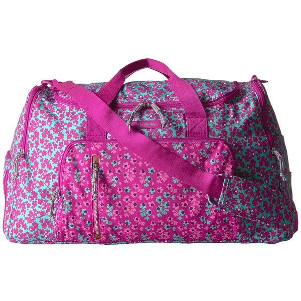 Vera Bradley Luggage Lighten Up Ultimate Gym Bag (Ditsy Dot) Bags ($138) ❤ liked on Polyvore featuring bags, purple bags, zipper bag, handle bag, purple gym bag and polka dot bag
