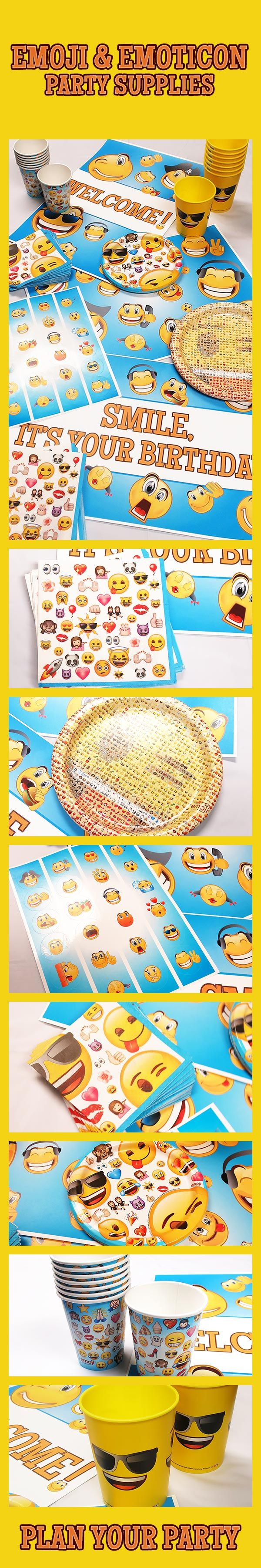 Plan your Emoji birthday party! You'll <3 these :D Emoji & Emoticon party supplies. Plates, napkins, cups, party signs, stickers, favors, and much are all feature everyone's favorite emojis and emoticons. Visit today to start planning your party: http://www.discountpartysupplies.com/boy-party-supplies/emoji-party-supplies?utm_source=Pinterest&utm_medium=Social&utm_content=EmojiSkyScraperImage&utm_campaign=emoji_Promoted_Pin