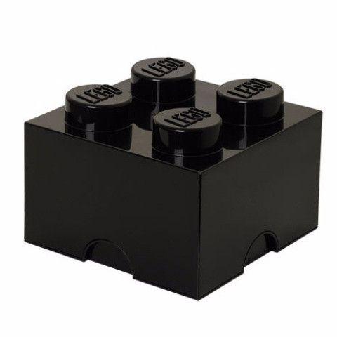 lego opbergbox brick 4 zwart - Brick Kids Room Decor