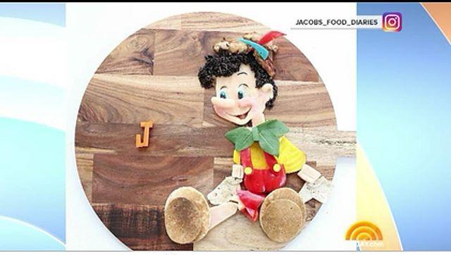 Did you catch our foodart plates on the  @todayshow ?  So amazing!  x  #foodart #todayshow #art #food #foodartist #disney #pinnochio #healthy #soblessed #amazing #organic #funfood #makinghealthyfoodfun
