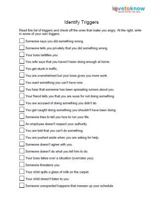 It is a graphic of Bewitching Anger Management Quiz Printable