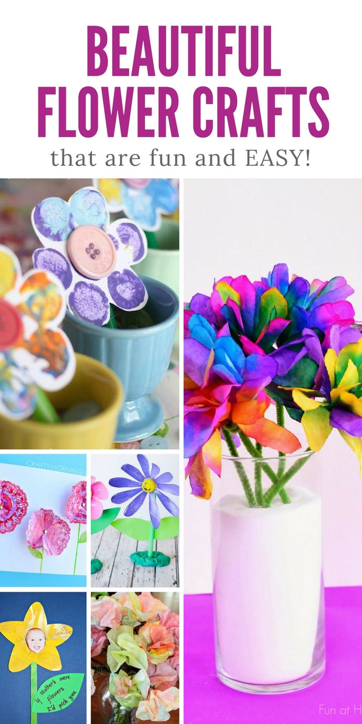 Oh my these flower crafts for kids are SUPER CUTE! Grandma would LOVE these as a gift!