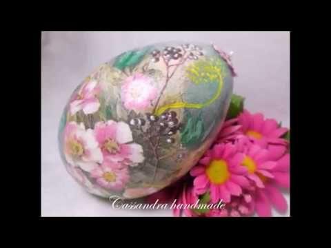 Decoupage Tutorial - Easter Egg With Sospeso Trasparente - Diy Step By Step - YouTube