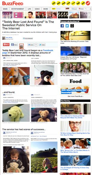 BUZZFEED  http://www.buzzfeed.com/alanwhite/teddy-bear-lost-and-found-is-the-sweetest-public-service-on
