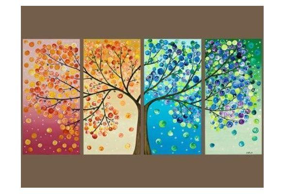 Wish   Four Seasoned Tree - Painting