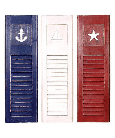 Look what I found on #zulily! Nautical Shutters Set #zulilyfinds