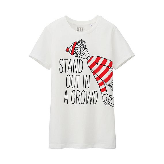 UNIQLO F T SHIRT Where's Wally? MANCHES COURTES