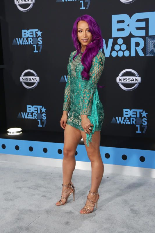 Sasha Banks - Fashion hits and misses from the 2017 BET Awards