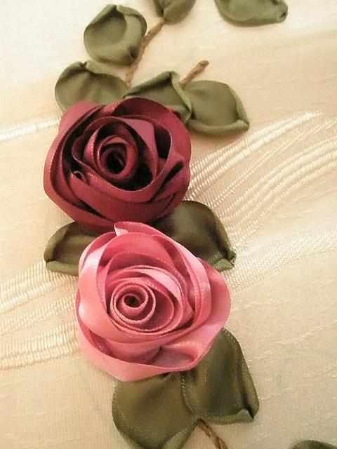 satin ribbon roses