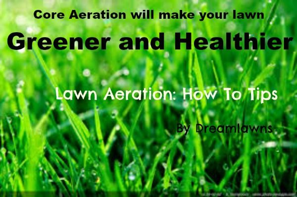 Aeration: Why, How When to Aerate Your Lawn by the Virginia Beach lawn experts Dreamlawns. Core Aeration keeps your grass green and healthy. Call the professionals