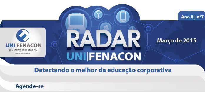 Projeto gráfico e diagramação de News Radar UniFenacon.