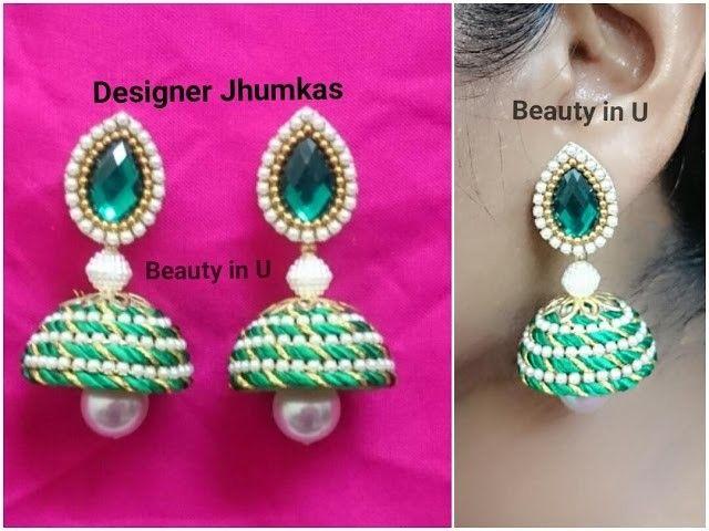 Simple and Beautiful Silk Thread Earrings | DIY | Tutorial