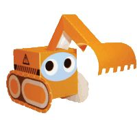 bouwplaat Graafmachine