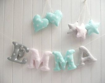 CUSTOMIZED Stuffed letters words and names Custom by letterlyy