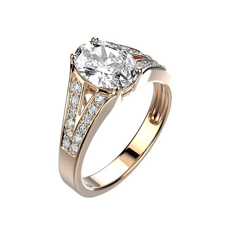 Agrandir Bague Marquise - Or rose 18 cts, Diamants 1